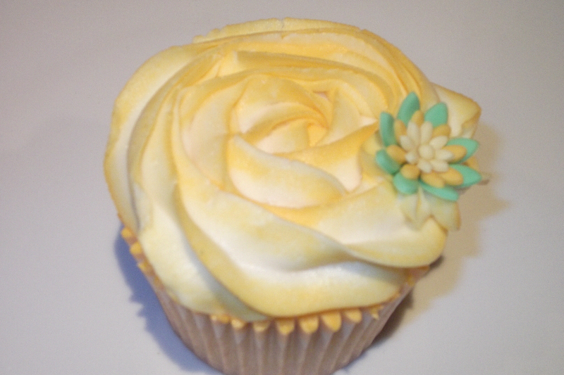 Rose piped butter cream