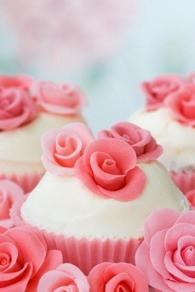 Valentine's Day Rose Cupcakes