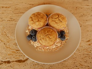 Oatmeal and Banana Muffins