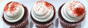 Strawberry Red Velvet Cupcakes
